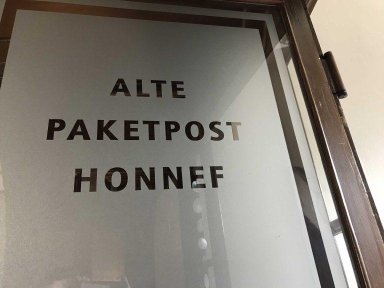 Einganstür der Alten Paketpost Bad Honnef