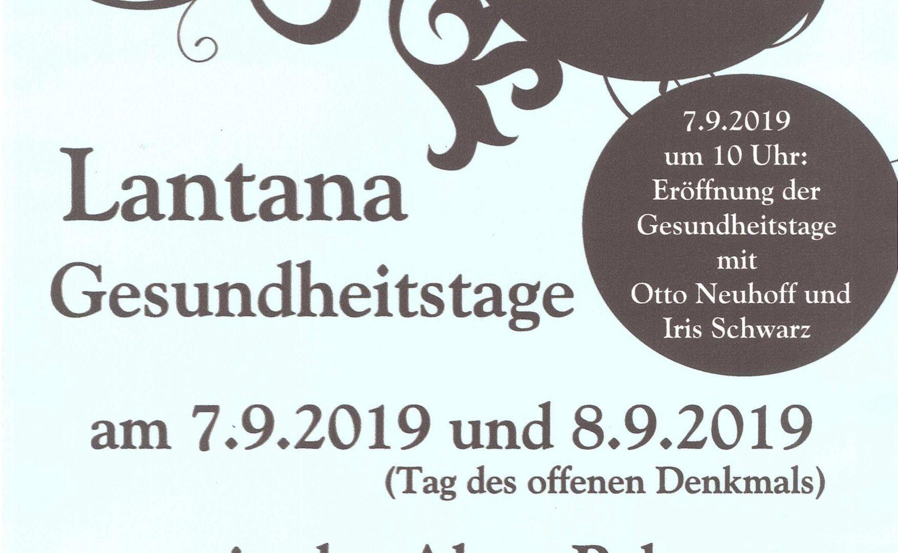 Unser Vortrags- und Workshopprogramm am Sonntag, den 8.9.2019